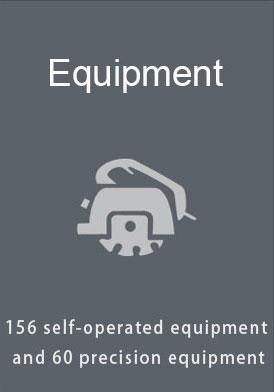 Uhlu lwe-CNC Machining Factory Equipment